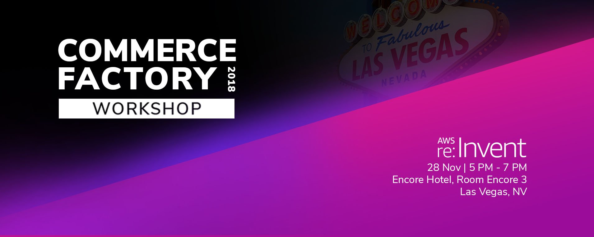 Experience Headless Commerce at AWS re:Invent 2018