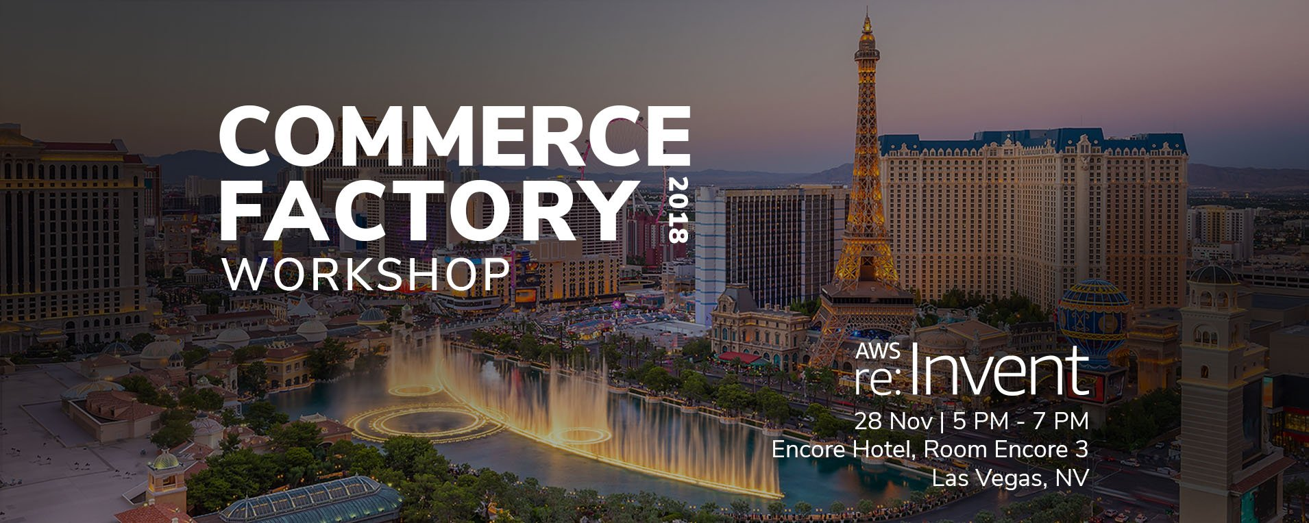 Time Travel into the Future of Digital Commerce at AWS re:Invent 2018