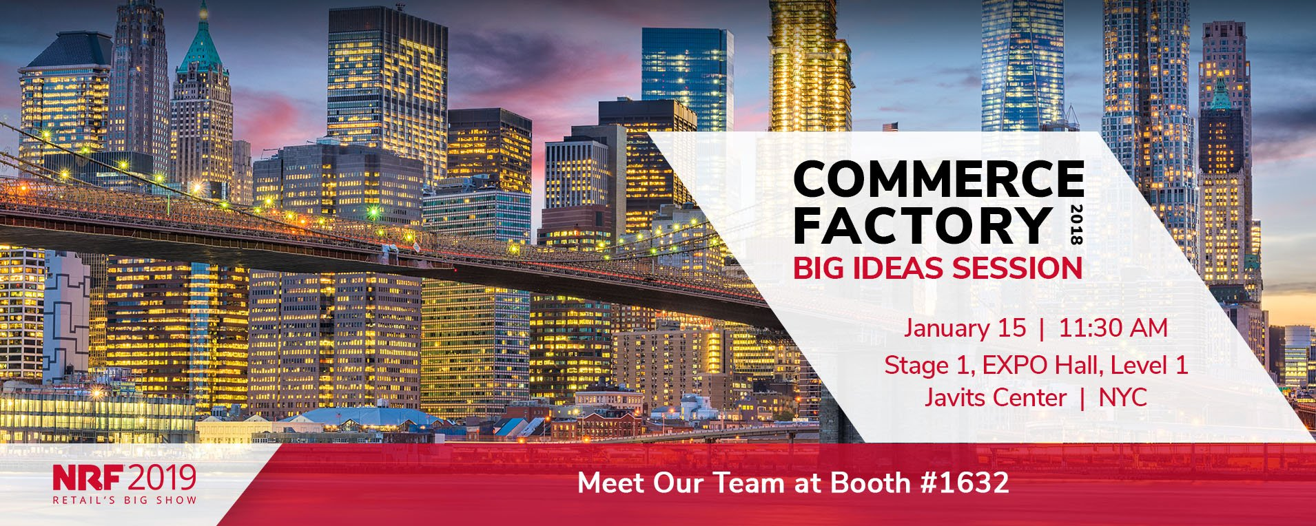 CommerceFactory is coming to NRF 2019