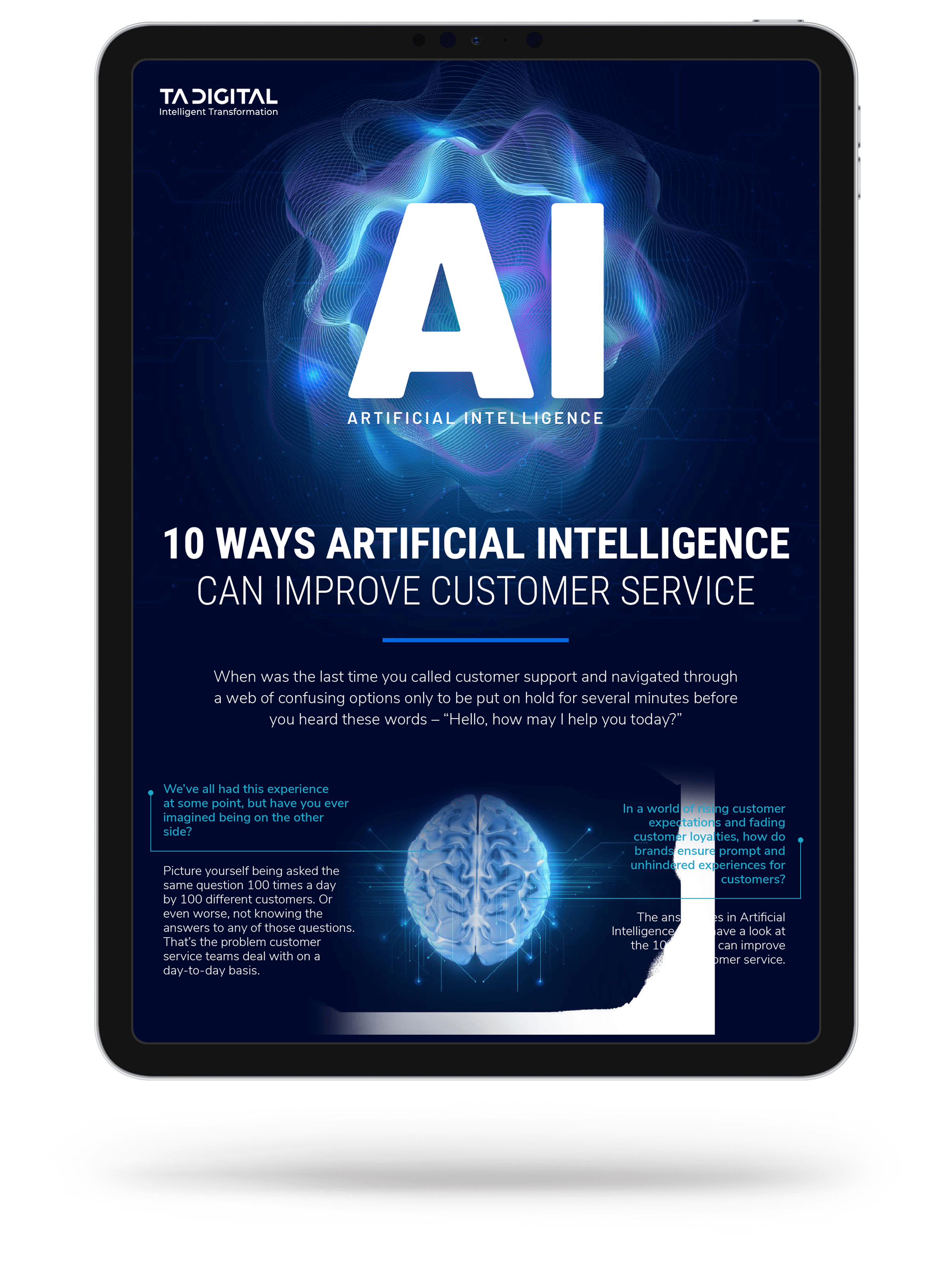 10 Ways Artificial Intelligence Can Improve Customer Service Infographic